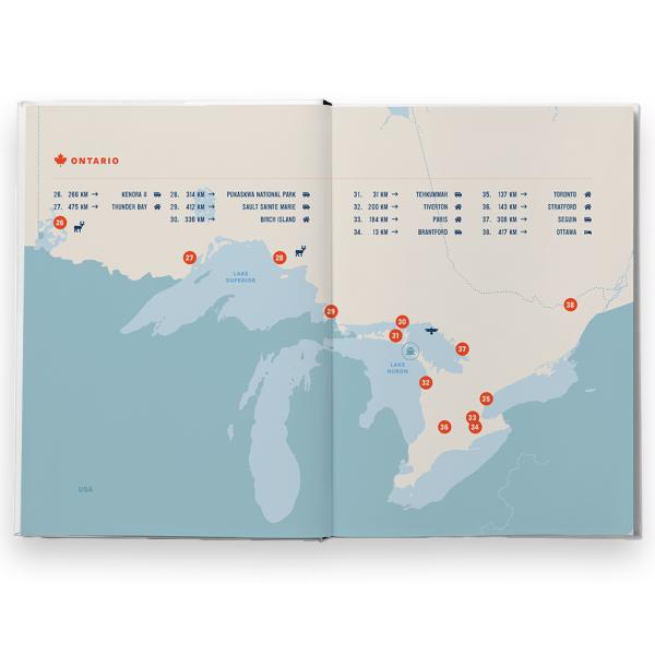 6500 Kelvin Walkabout boek landkaart Ontario