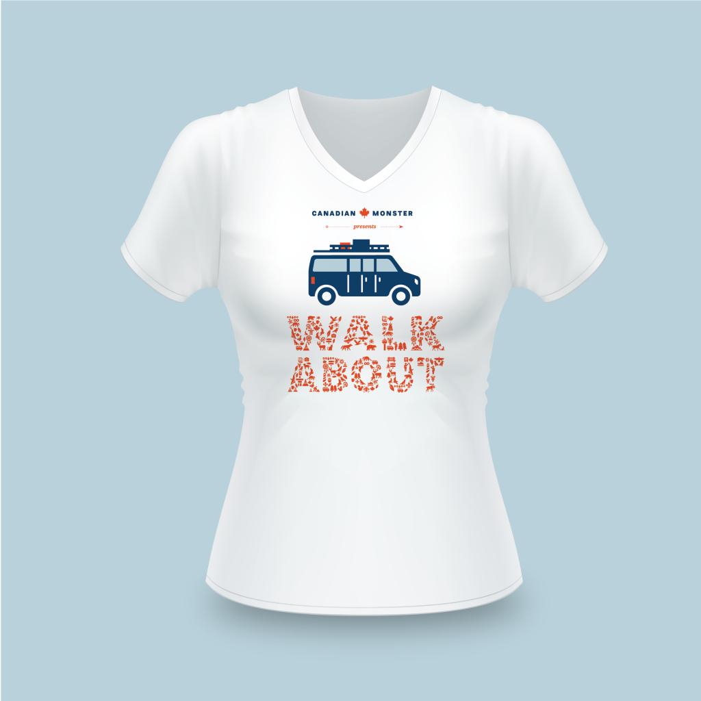 Walkabout t-shirt-dames
