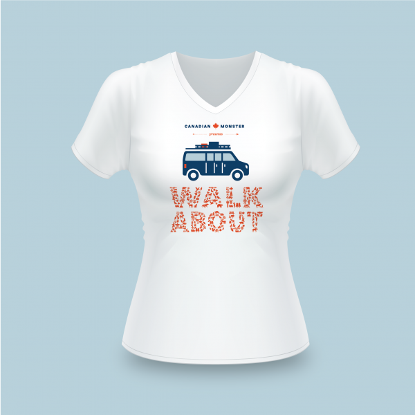 Walkabout t-shirt-dames